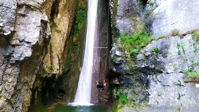 Parco delle cascate di Molina altalena