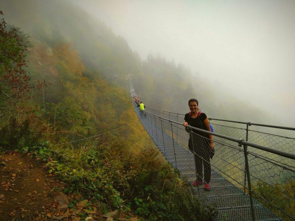 ponte tibetano valli pasubio autunno foliage