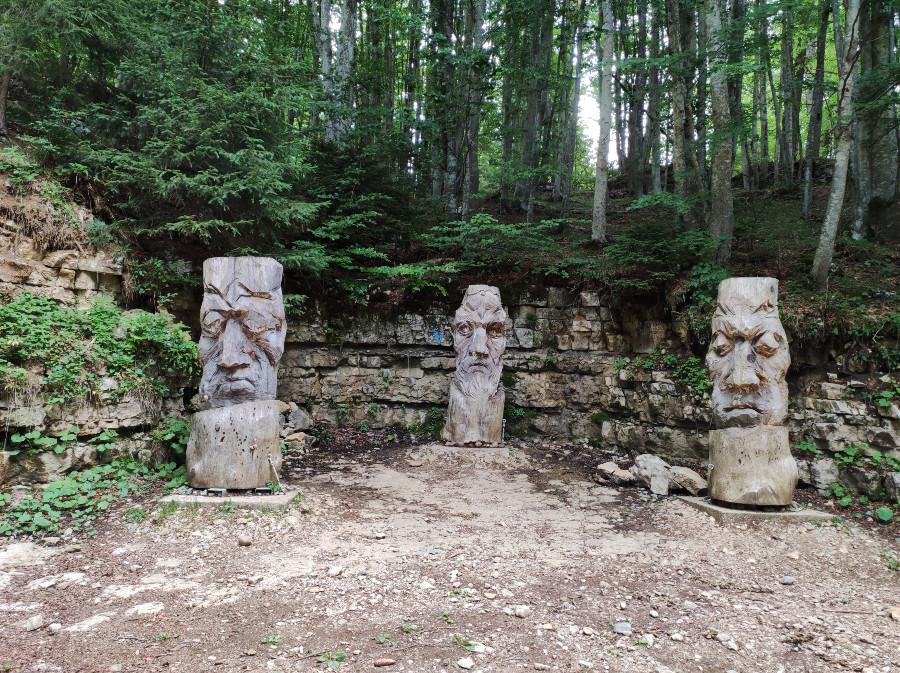 sculture sentiero dell immaginario luserna